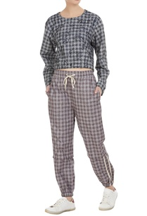 checkered-cotton-jogger-pants
