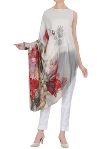draped-style-floral-printed-tunic