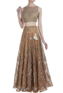sequin-pearl-tissue-lehenga-set