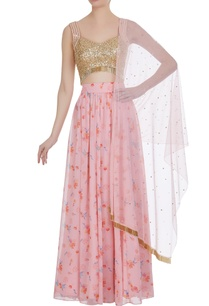 floral-printed-lehenga-with-sequin-blouse-dupatta