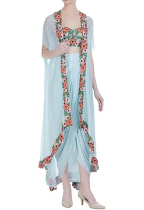 floral-embroidered-bustier-with-dhoti-skirt-jacket