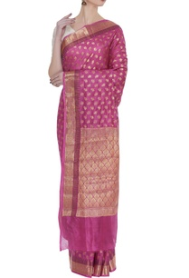 classic-hand-woven-sari-with-unstitched-blouse