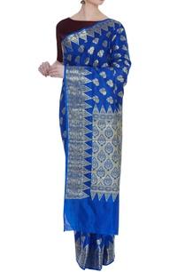 mysore-georgette-woven-sari-unstitched-blouse