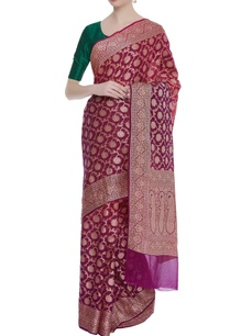 georgette-sari-with-unstitched-blouse
