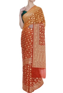 hand-woven-georgette-sari-with-unstitched-blouse