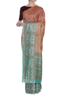 hand-woven-linen-sari-with-unstitched-blouse