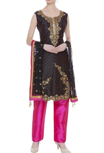 sequin-embroidered-dual-color-kurta-set