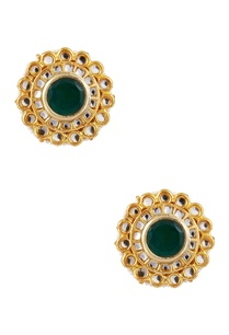 pearl-kundan-floral-stud-earrings