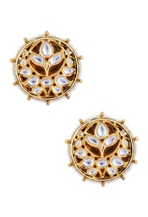 kundan-floral-pearl-stud-earrings