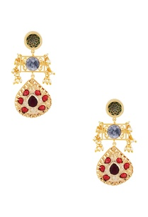 pearl-multicolored-long-dangling-earrings