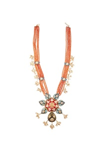 multicolored-meenakari-lotus-pendant-long-necklace