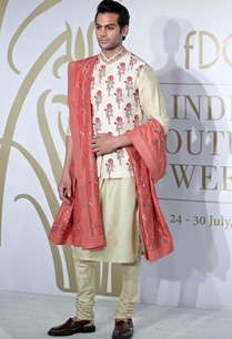 rose-motif-raw-silk-nehru-jacket-set