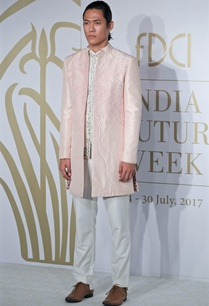 embroidered-kurta-with-sherwani-and-trouser