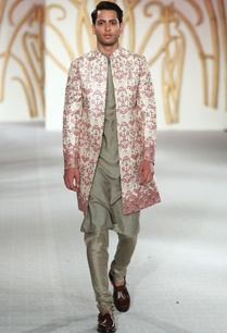 printed-sherwani-with-kurta-and-churidar