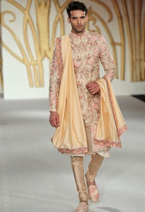 raw-silk-floral-embroidered-sherwani-set