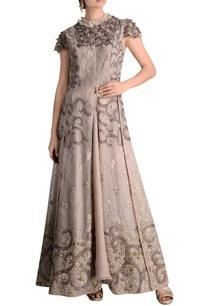 beadwork-detail-dress-with-lehenga-skirt