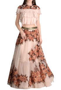 floral-sequin-lehenga-with-tiered-blouse