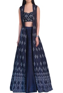 sequin-embellished-raw-silk-lehenga-set