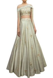 raw-silk-embroidered-lehenga-with-tassel-blouse