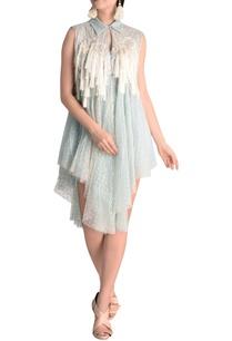 fringe-detail-dress-with-asymmetric-hemline