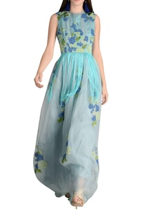organza-fringe-detail-maxi-dress-with-long-trail