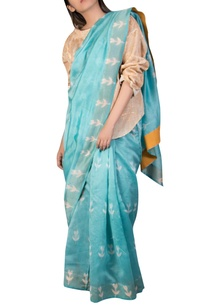 chanderi-clamp-dyed-sari