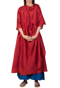 chanderi-layered-bow-tie-up-tunic