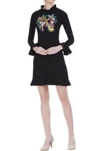 ruffle-detail-mini-dress