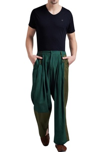 linen-box-pleated-flared-pants