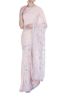 pastel-tulip-hand-painted-embroidered-sari-with-unstitched-blouse