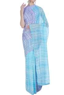 hand-painted-check-sari-with-unstitched-blouse