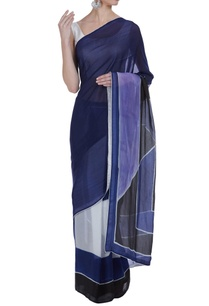 color-block-hand-painted-sari-with-unstitched-blouse