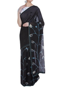 hand-painted-tulip-sari-with-unstitched-blouse