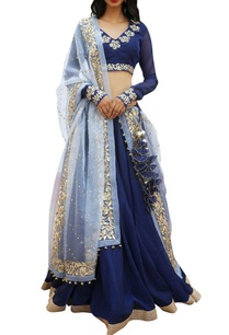 embroidered-blouse-and-dupatta-with-border-detail-lehenga