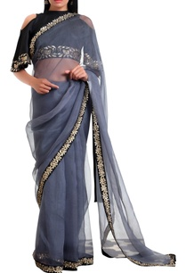 organza-silk-sari-with-cold-shoulder-blouse