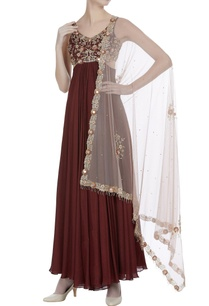 mirror-work-cutout-anarkali-with-net-dupatta
