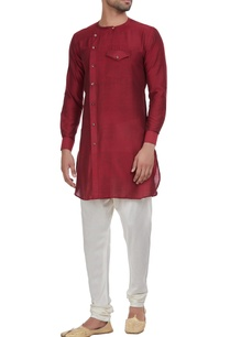overlap-style-kurta-with-chest-pocket