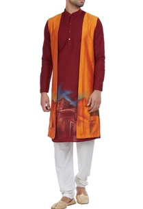 printed-kurta-with-shrug
