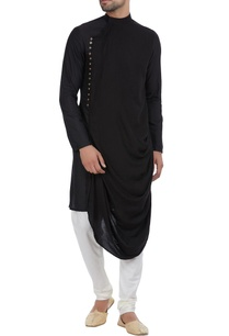 cowl-pleated-kurta-with-side-placket