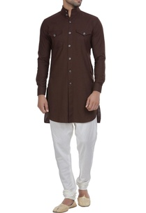 short-kurta-with-button-placket