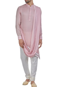 asymmetric-hemline-kurta-with-drape