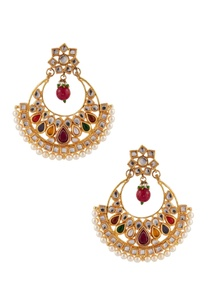 kundan-pearl-beaded-earrings