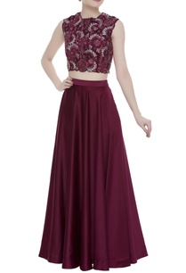 embellished-crop-top-with-lehenga