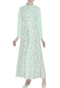 long-jacket-with-gota-patti-embroidery-and-pants