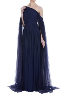 cold-shoulder-sleeves-gown