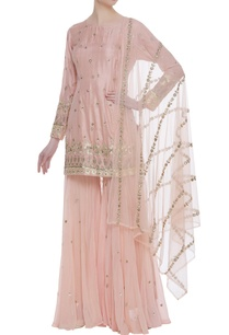 gota-patti-kurta-with-net-sharara-pants-and-dupatta