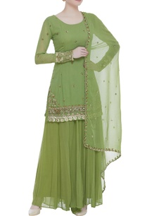 butti-embroidered-kurta-with-sharara-pants-and-dupatta