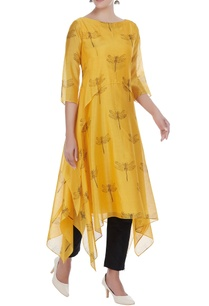 chanderi-asymmetric-tunic-with-dragonfly-motif-embroidery