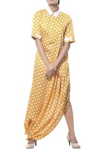 drape-long-dress-with-polka-dots