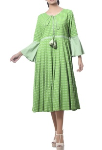 cotton-midi-dress-with-bell-sleeves